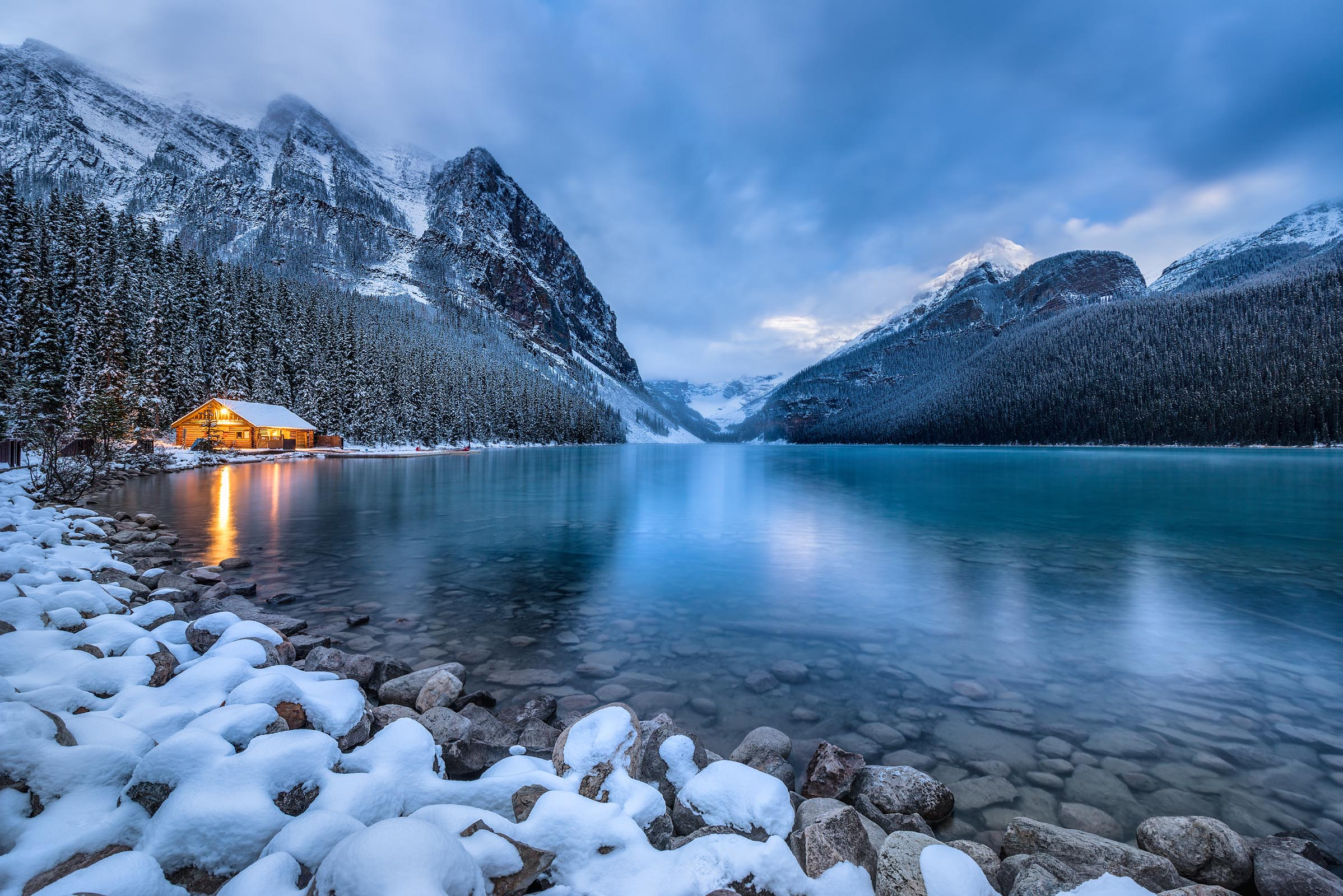 Photograph of Lake Louise in Banff, Canada by Brent Goldman Photography