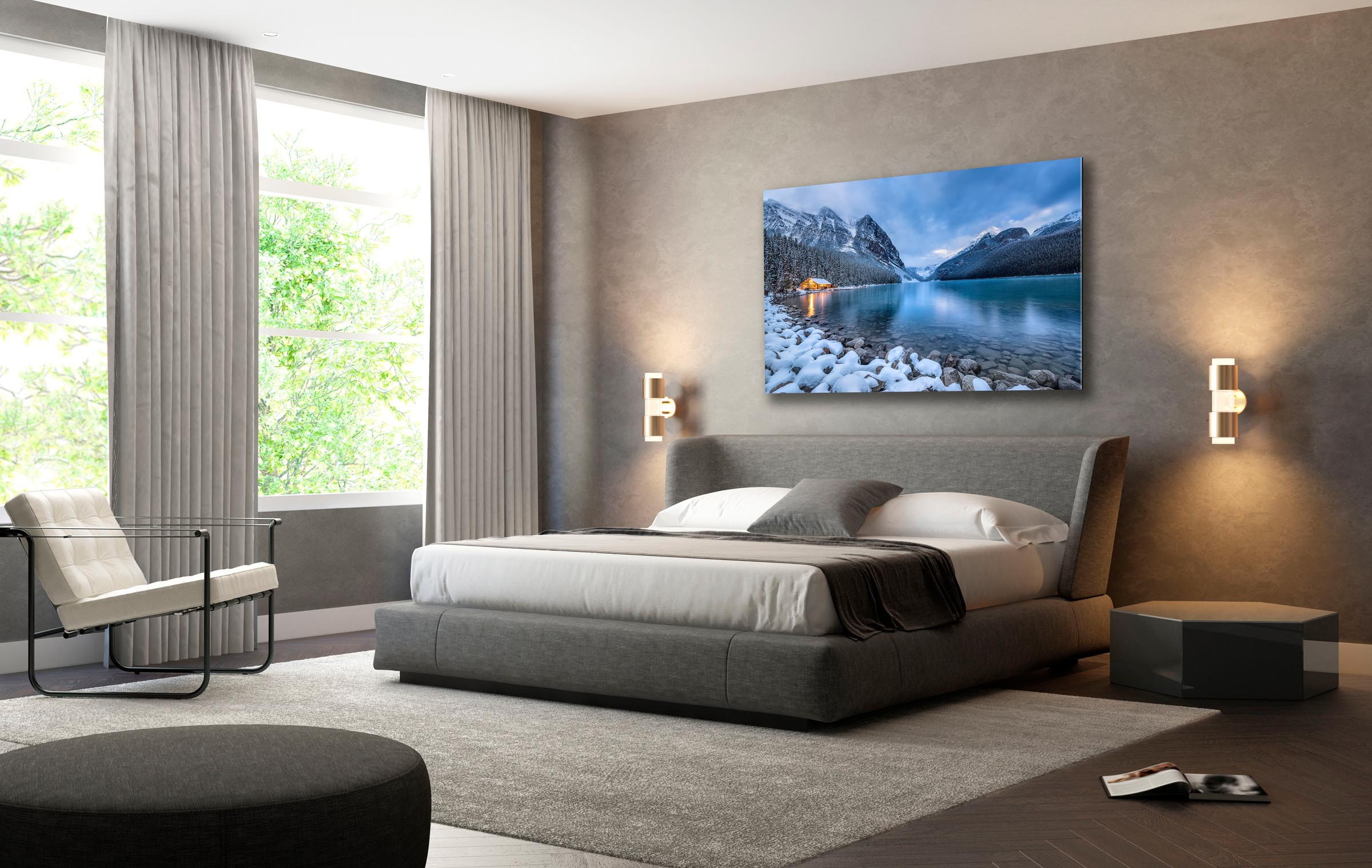 Wall art of Lake Louise in Banff, Canada by Brent Goldman Photography