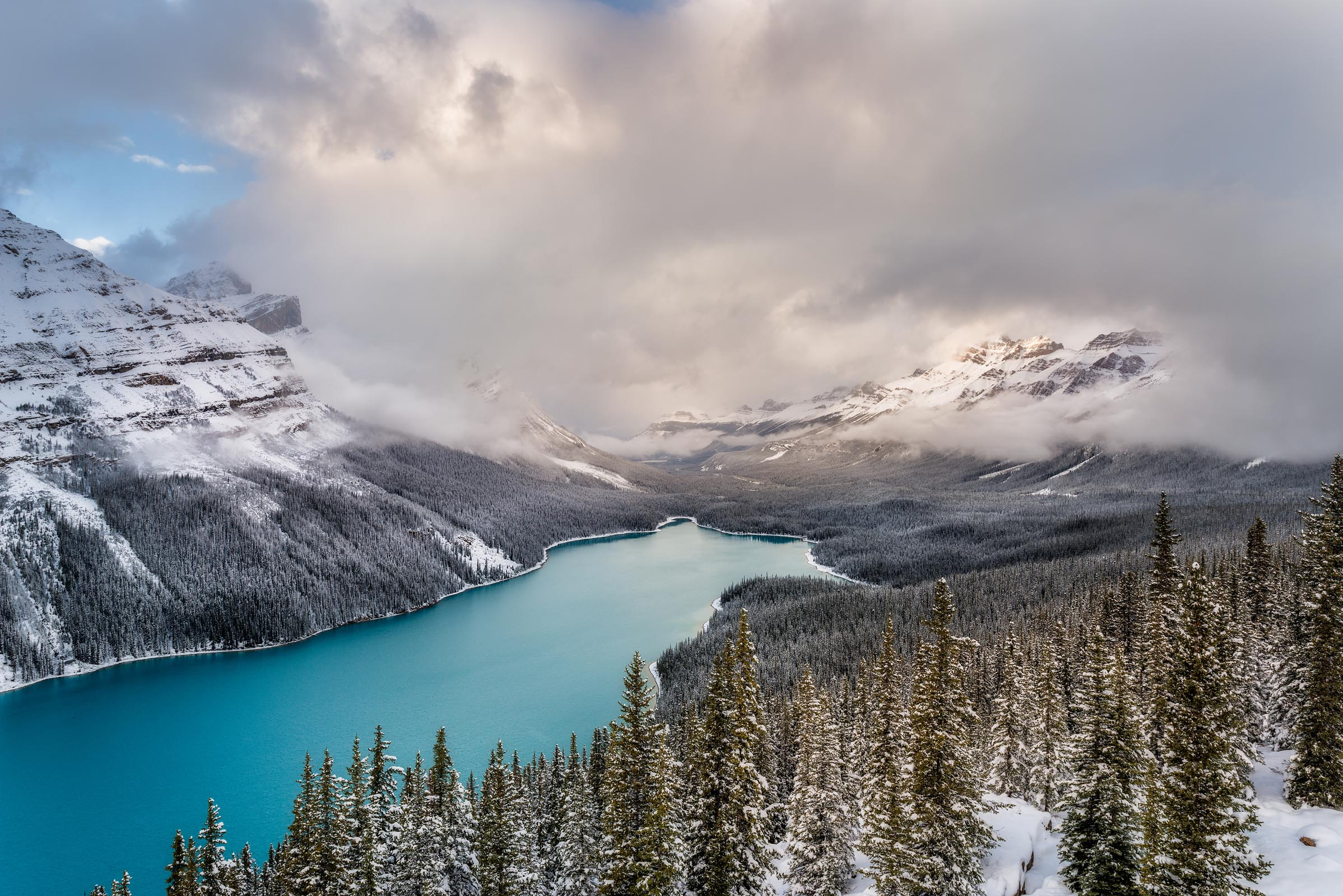 Photograph of Peyto Lake in Banff, Canada by Brent Goldman Photography