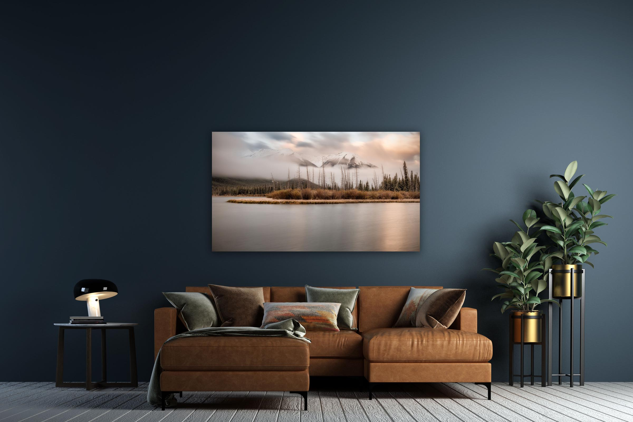 Wall art of Vermilion Lakes in Banff, Canada by Brent Goldman Photography