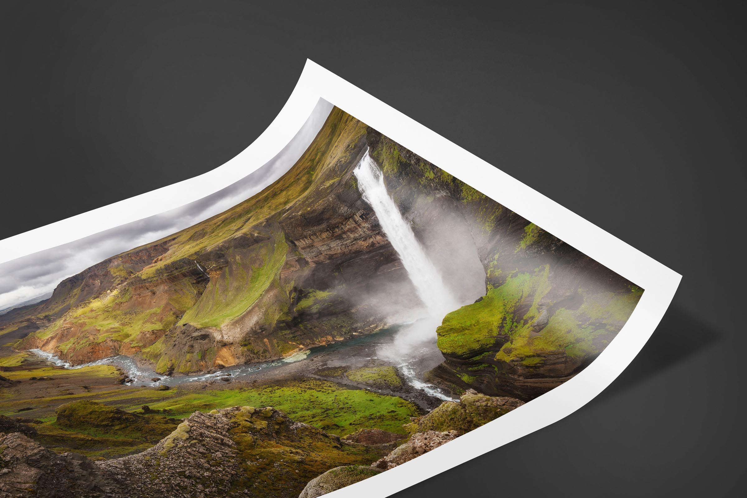 Fine art limited edition print of Haifoss Waterfall in Highlands, Iceland by Brent Goldman Photography