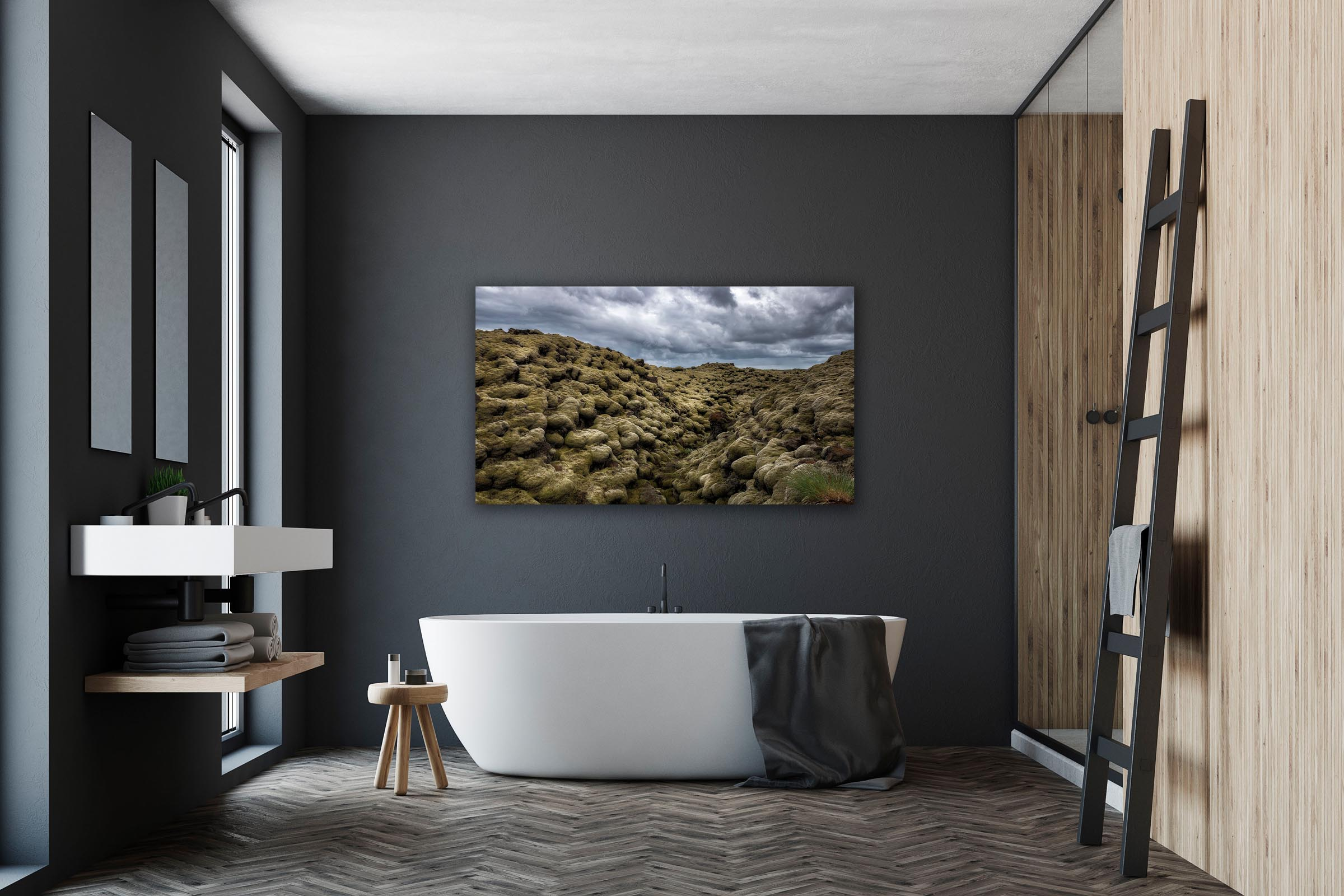 Wall art of Lava Field in Eldhraun, Iceland by Brent Goldman Photography