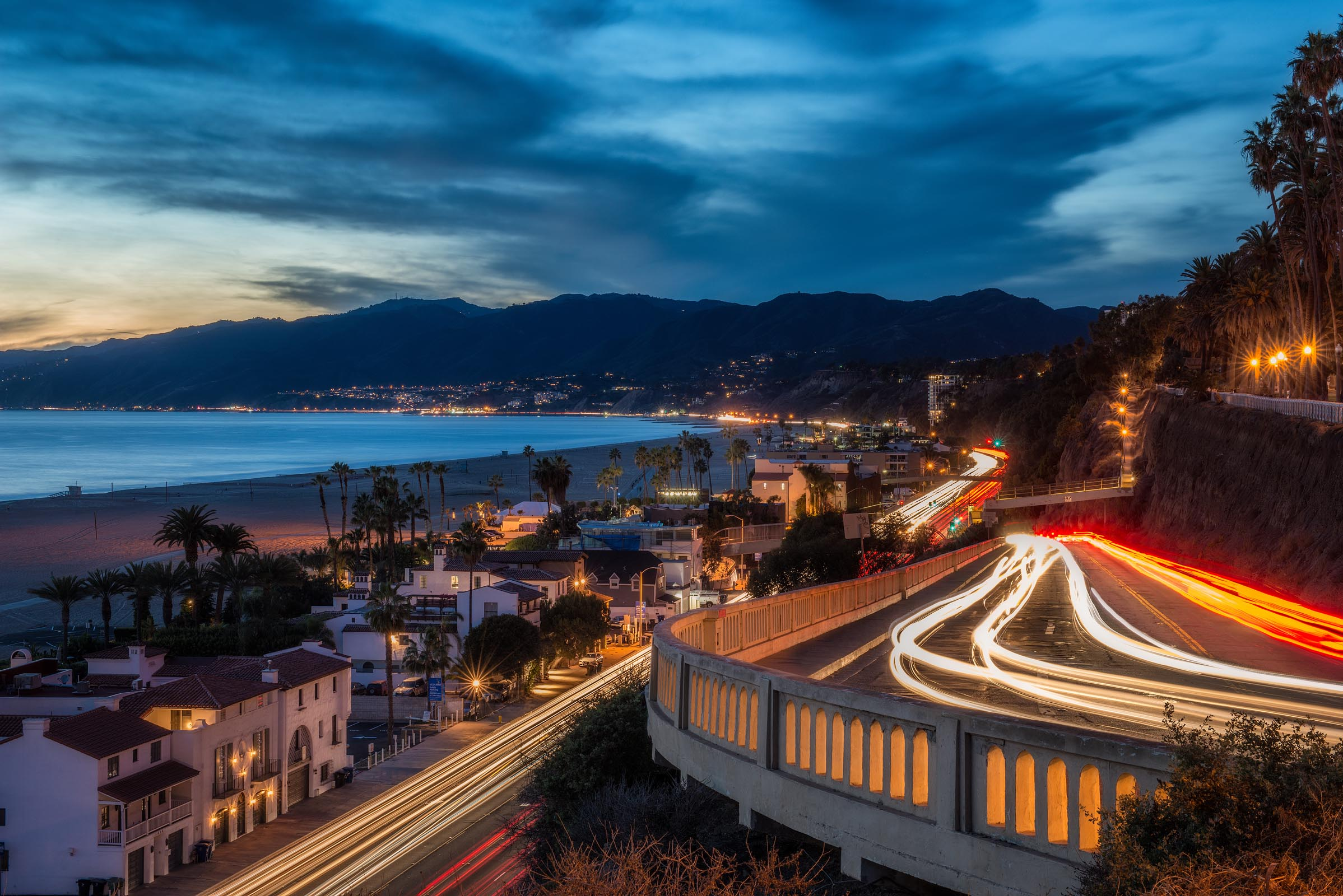 Photograph of Pacific Coast Highway in Santa Monica, California by Brent Goldman Photography