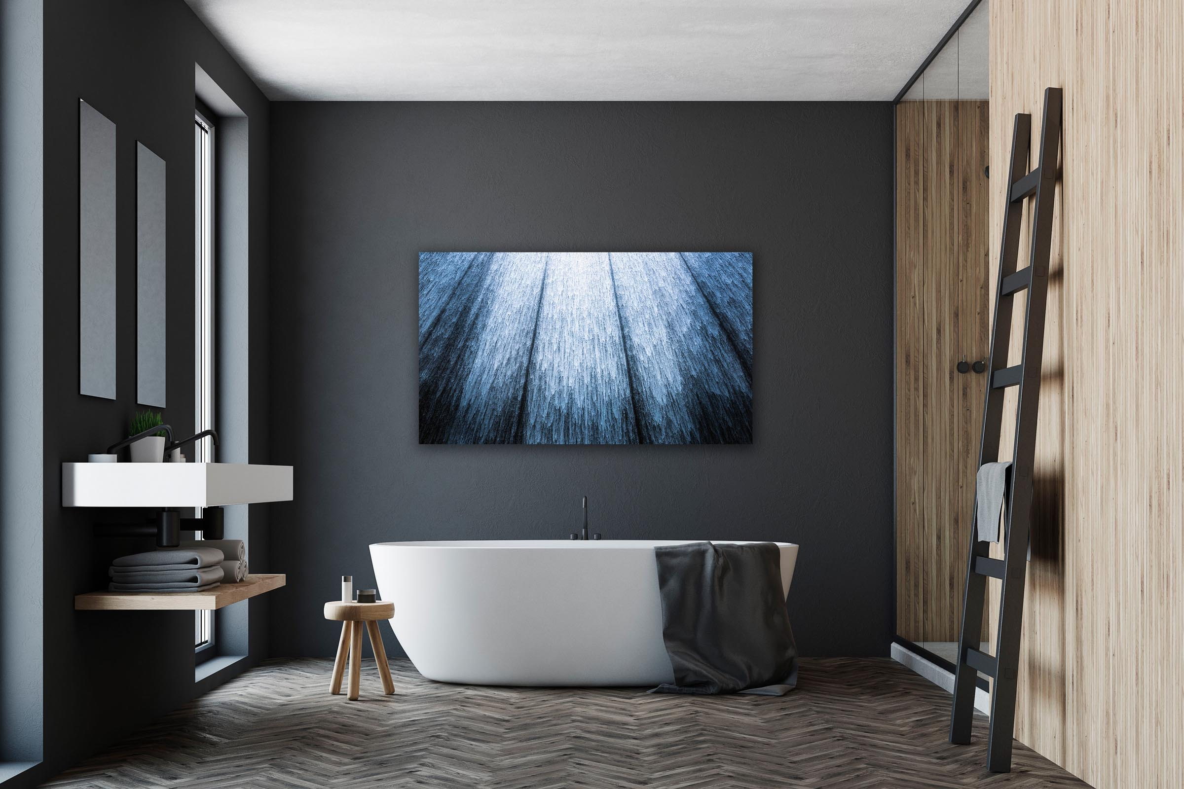 Wall art of Waterwall in Houston, Texas by Brent Goldman Photography