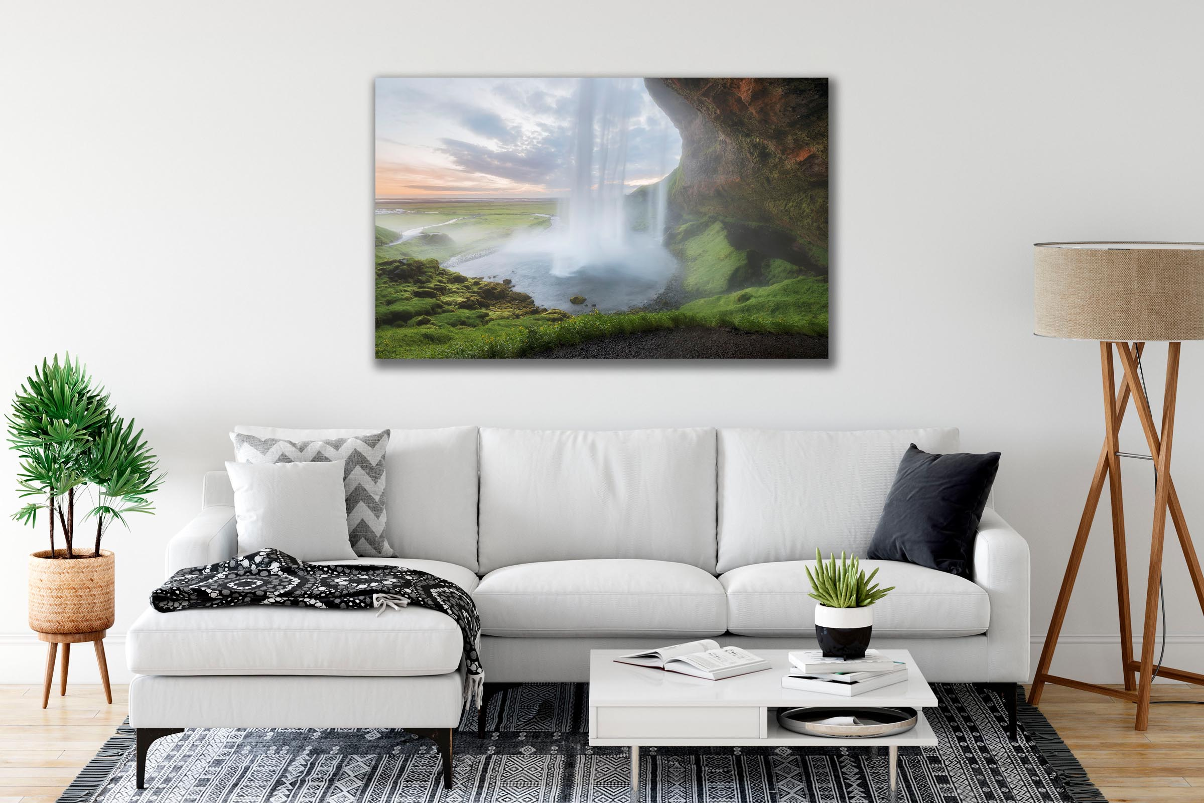 Wall art of Seljalandsfoss Waterfall in South Coast, Iceland by Brent Goldman Photography