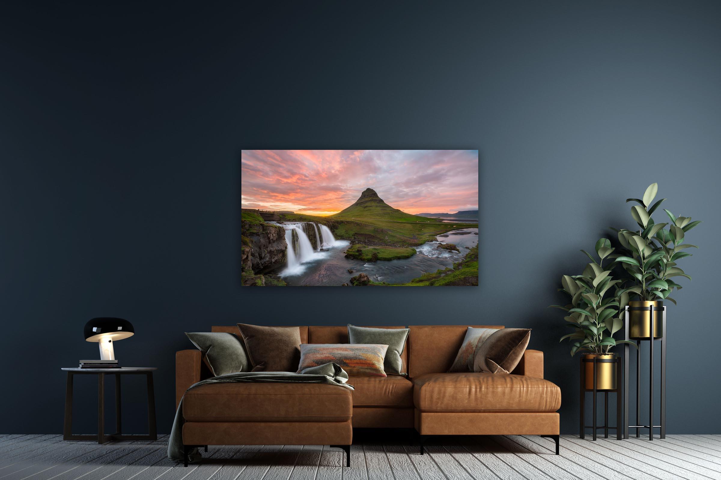 Wall art of Kirkjufell Mountain in Snæfellsnes, Iceland by Brent Goldman Photography