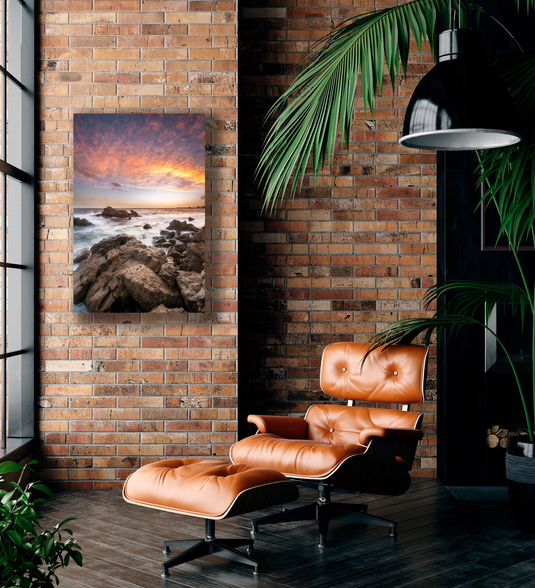 Wall art of Ocean Sunset in Huntington Beach, California by Brent Goldman Photography