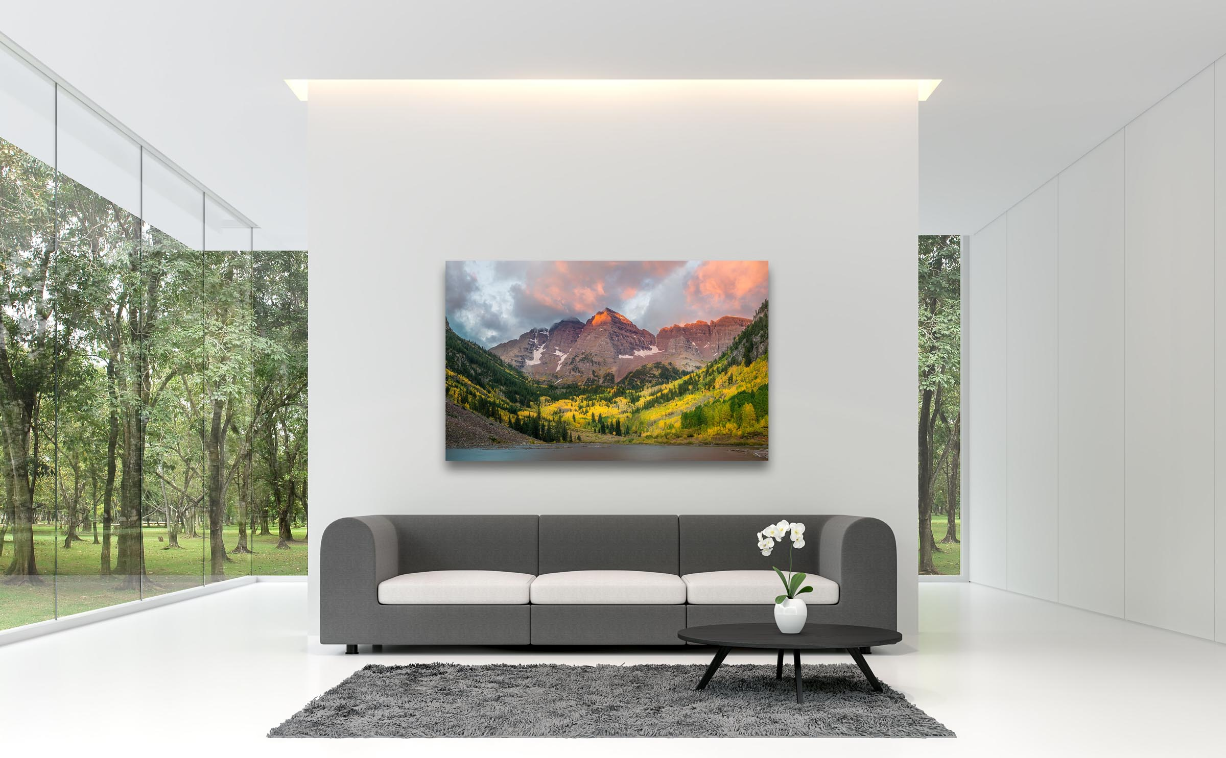 Wall art of Maroon Bells in Aspen, Colorado by Brent Goldman Photography