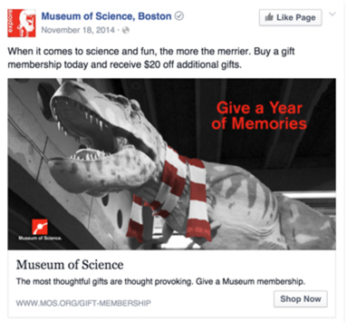 The Museum of Science, Boston Facebook Ads