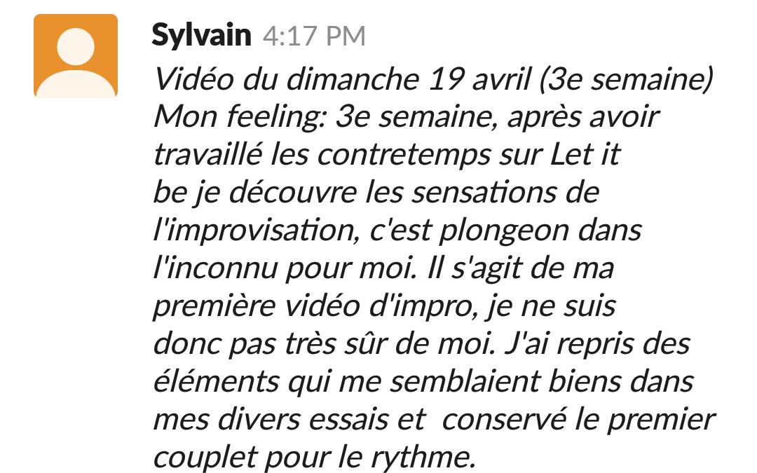 progrès rapides de Sylvain au piano avec Virtuoso