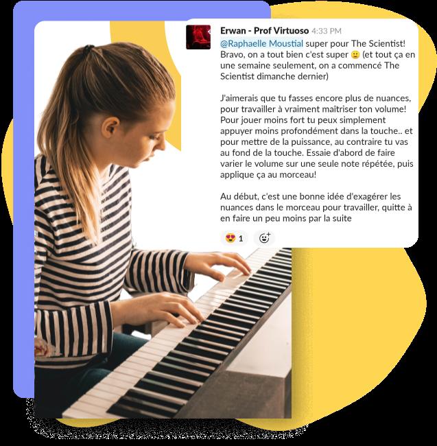 les coach Virtuoso te guident dans ton apprentissage du piano
