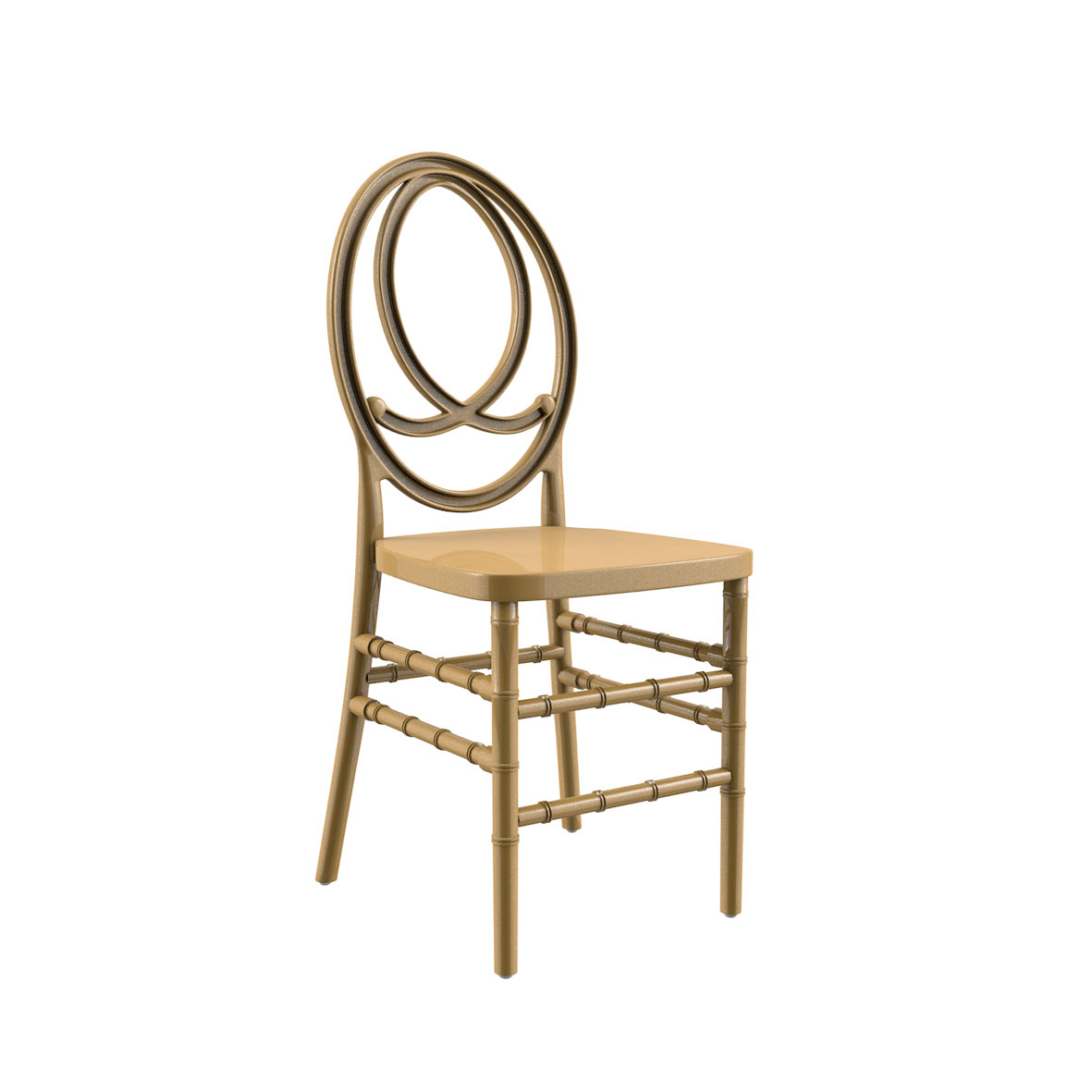 Cadeira Phoenix Color Dourada