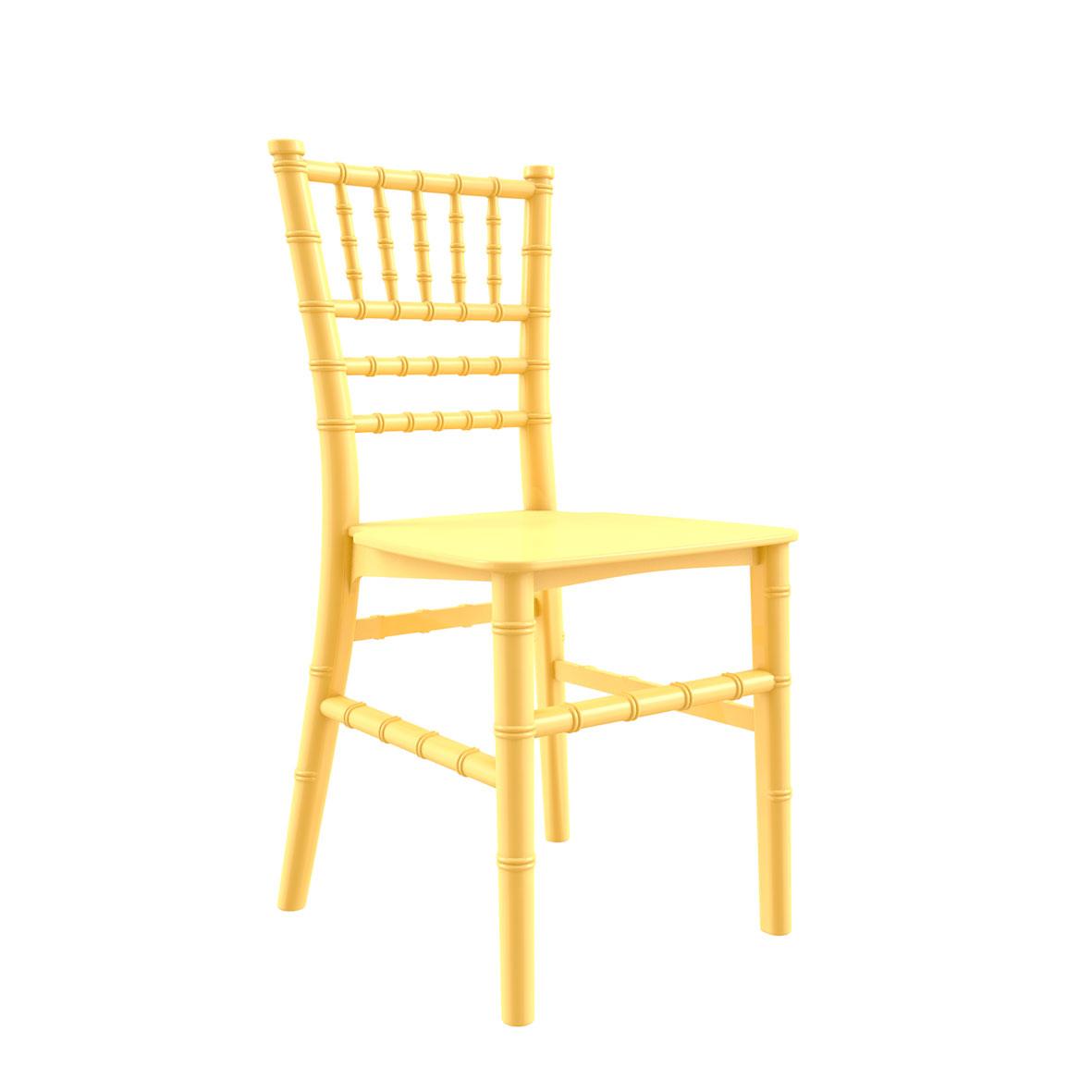 Cadeira Tiffany Infantil Color Amarela Clara