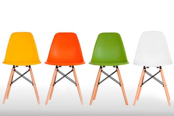 cadeiras para decoração de espaço de coworking