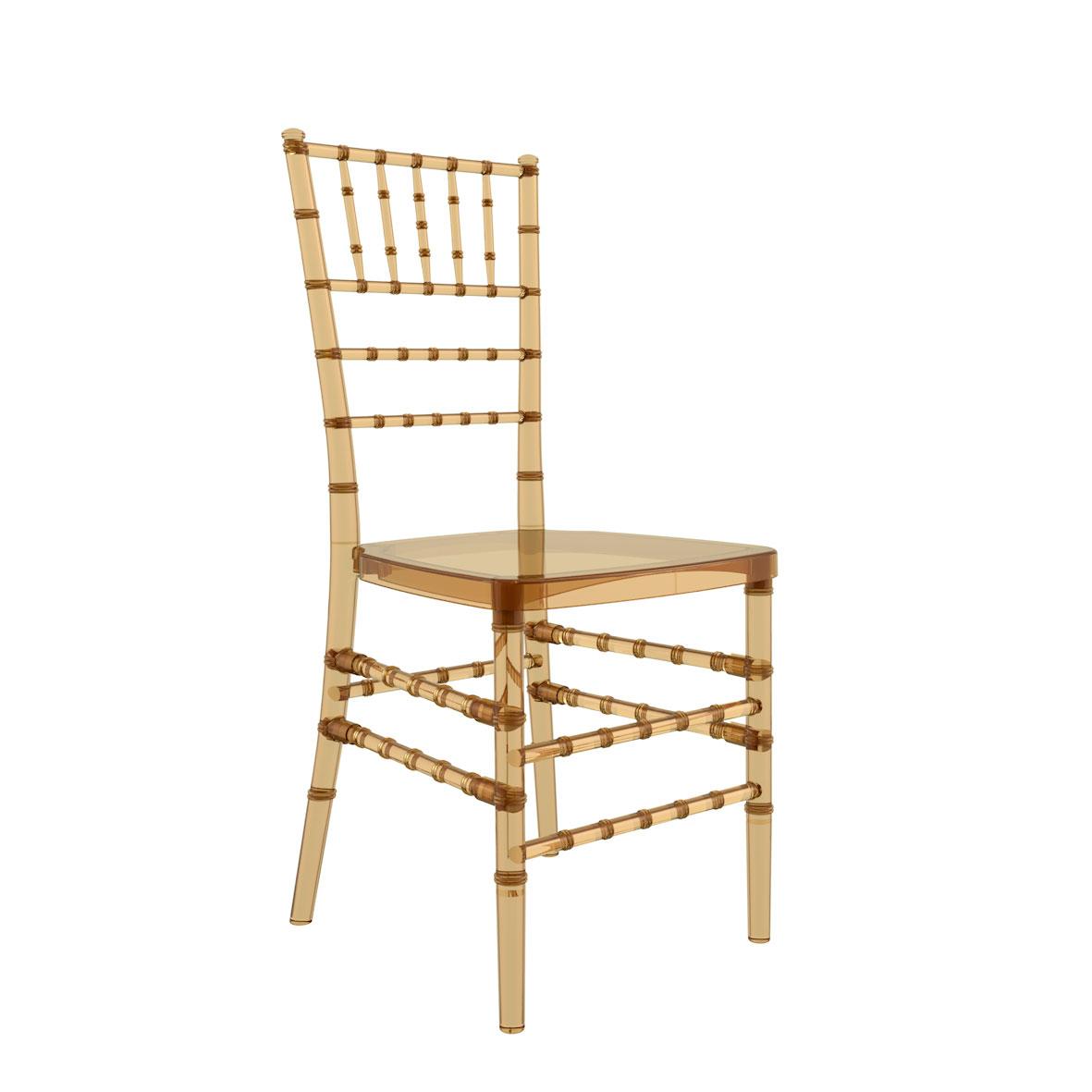 Cadeira Tiffany Cristal Âmbar