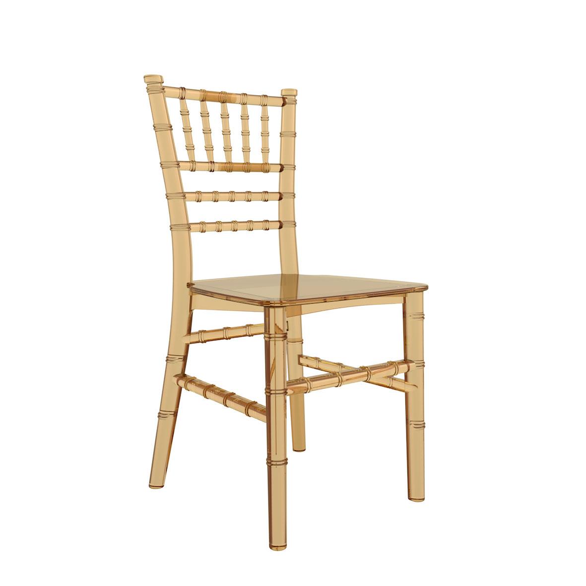Cadeira Tiffany Infantil Cristal Âmbar