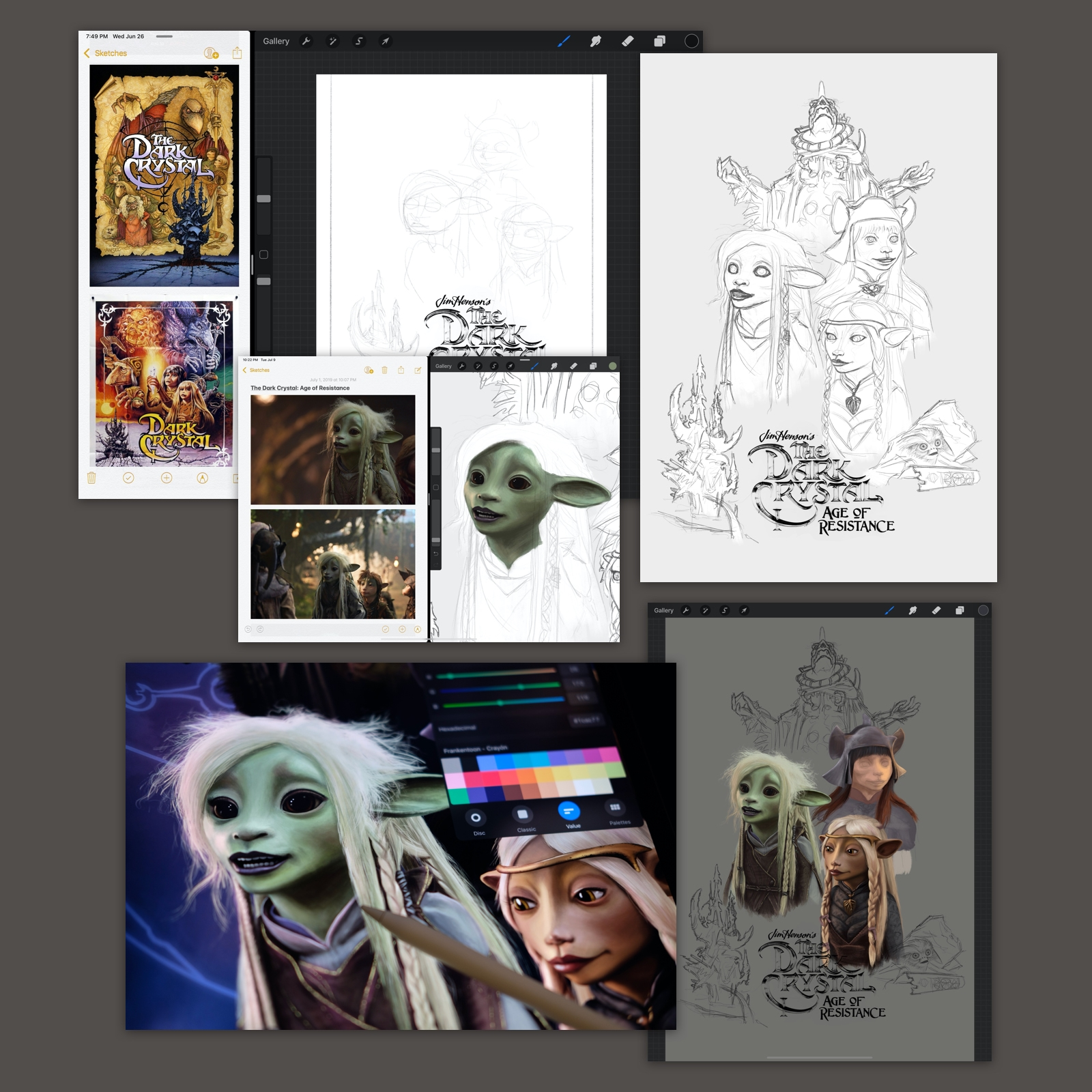 Dark Crystal Poster Process