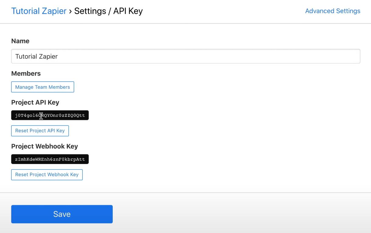 Bannerbear copiamos API KEY