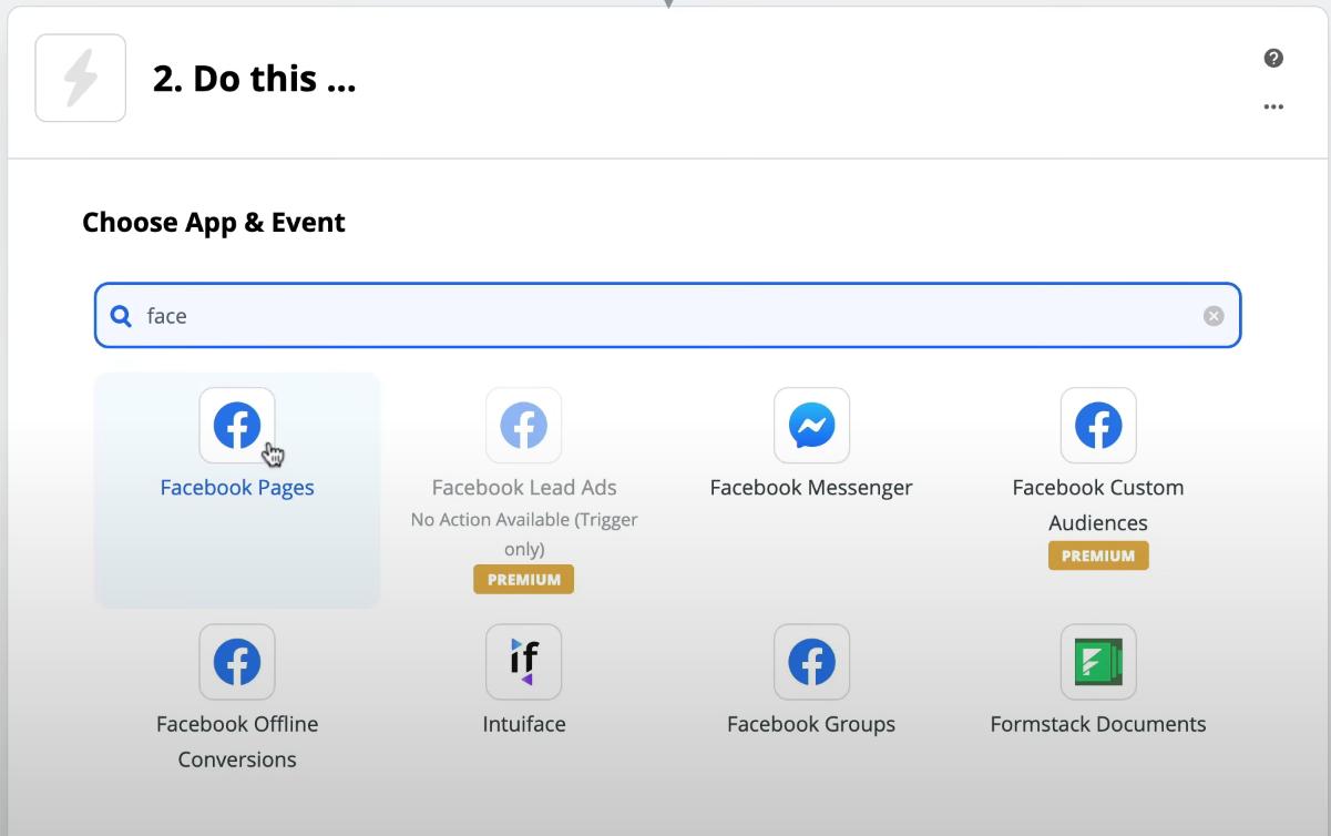 Zapier Facebook Pages