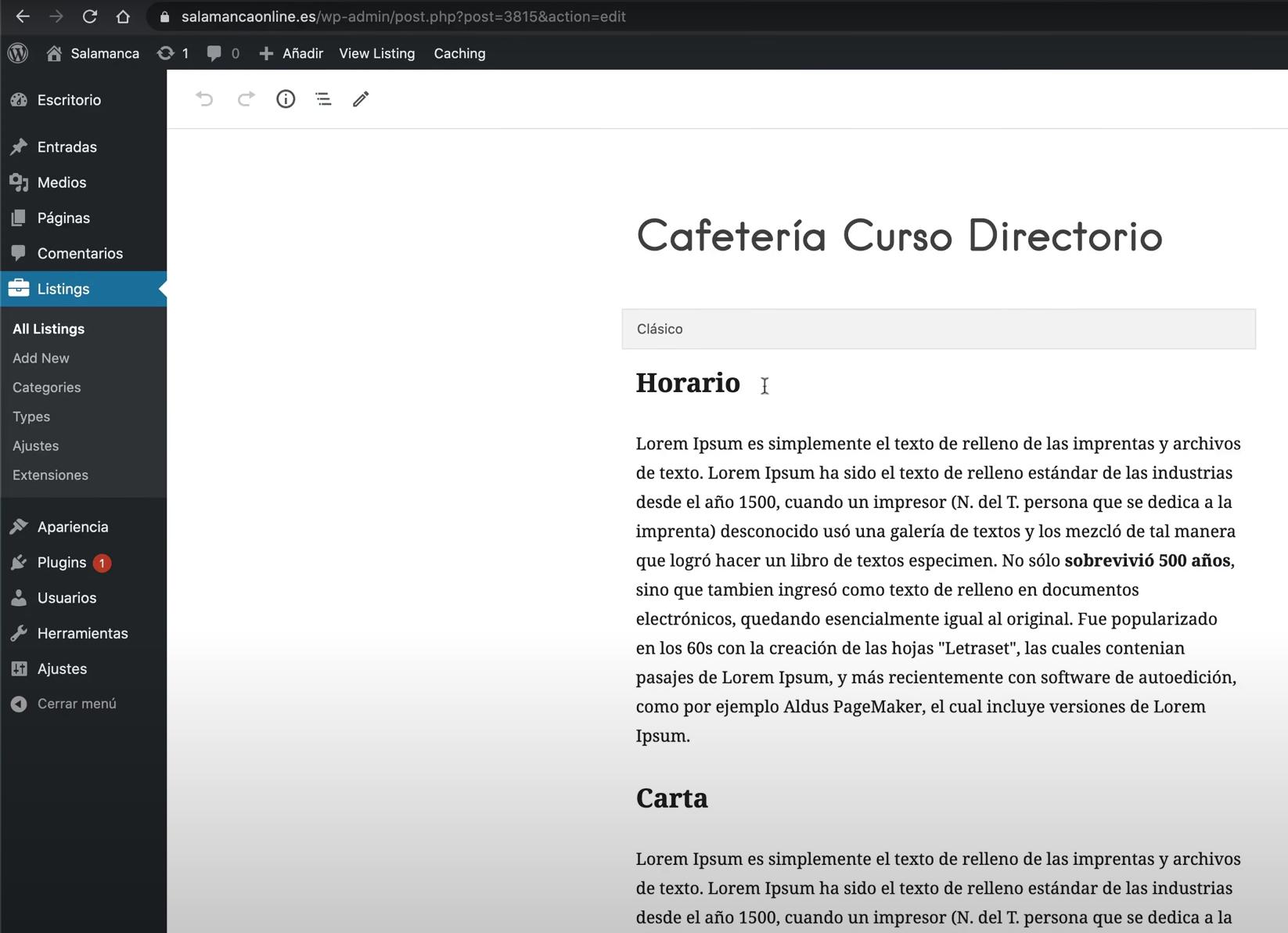 Editar Wordpress