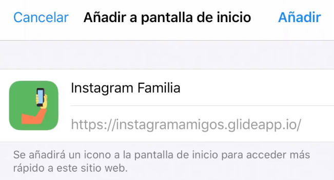 Glide Instagram familia