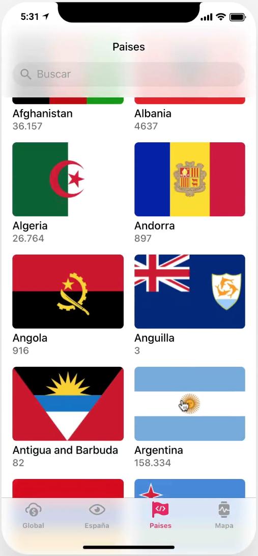 App Coronavirus paises