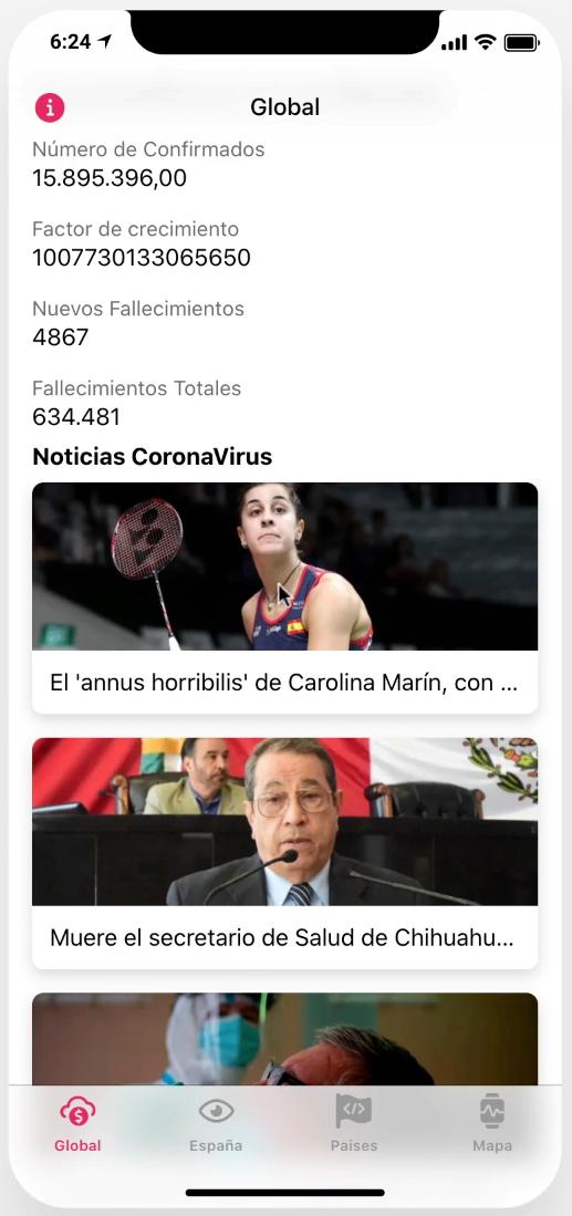 App Coronavirus Noticias