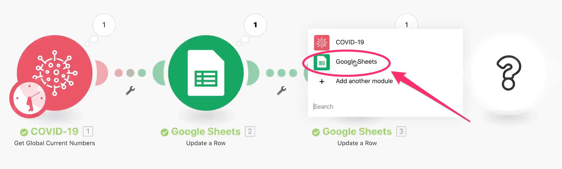 Integromat Google Sheets