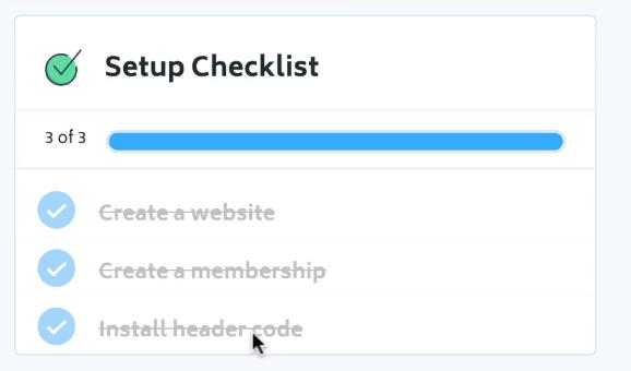 checklist memberstack