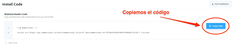 memberstack copiamos código