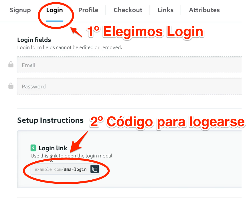 Codigo memberstack logearse