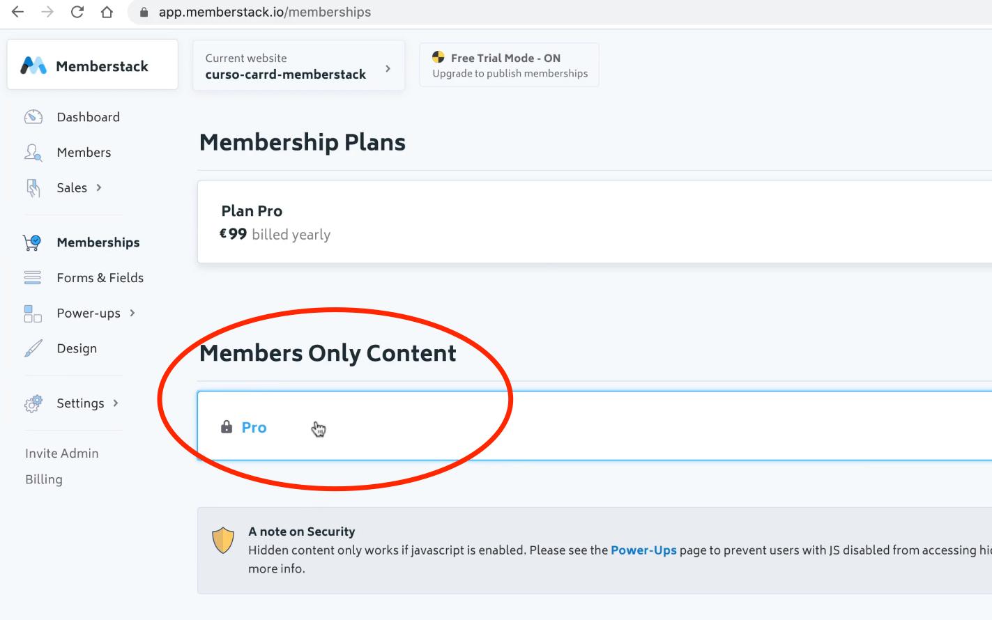 Memberstack Members Only Content