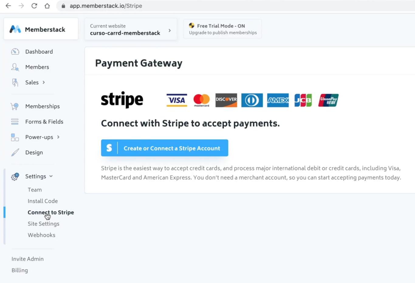 Memberstack conect con stripe