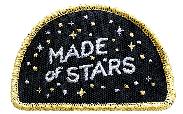 starry embroidered patch