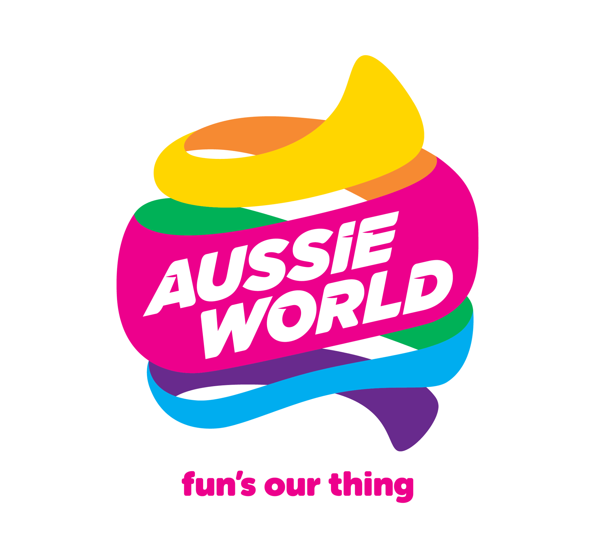 Aussie World Sunshine Coast Logo | Mudcrab Music & Events