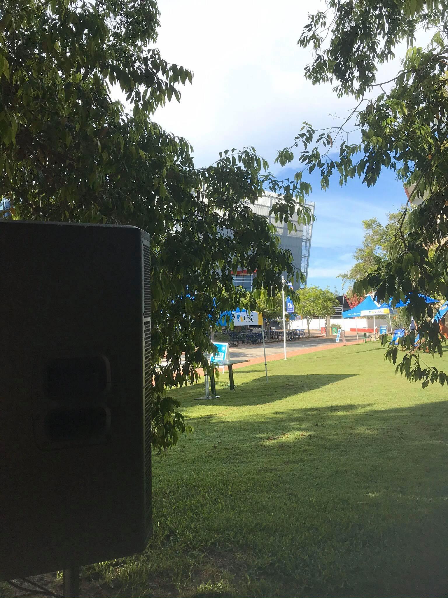 Sunshine Coast University Speaker Hire Mudcrab Music & Events
