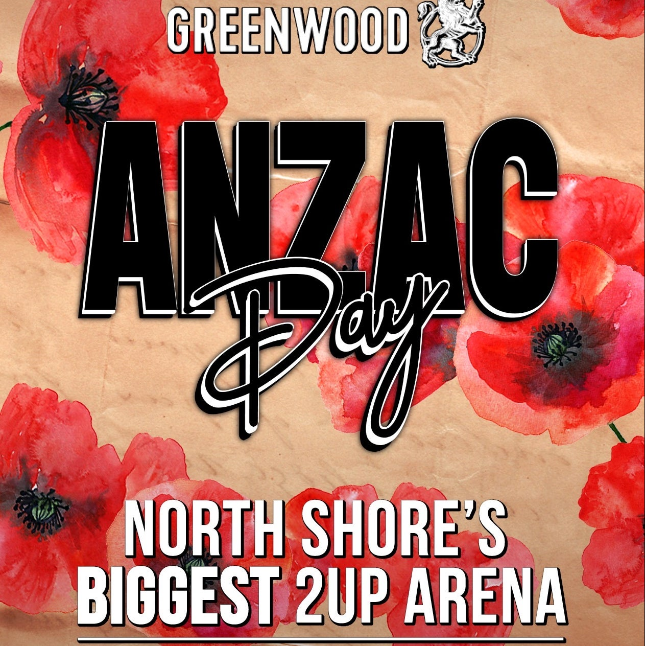 Anzac Day Greenwood Hotel Mudcrab Music & Events