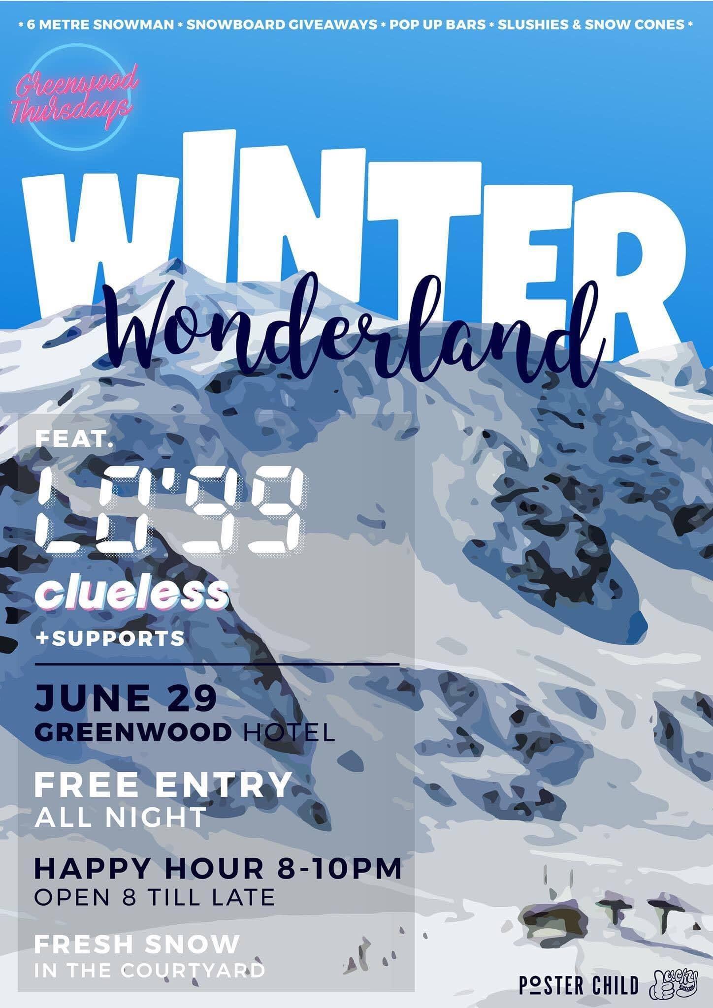 Lo99 Clueless Winter Wonderland Greenwood Thursdays North Sydney