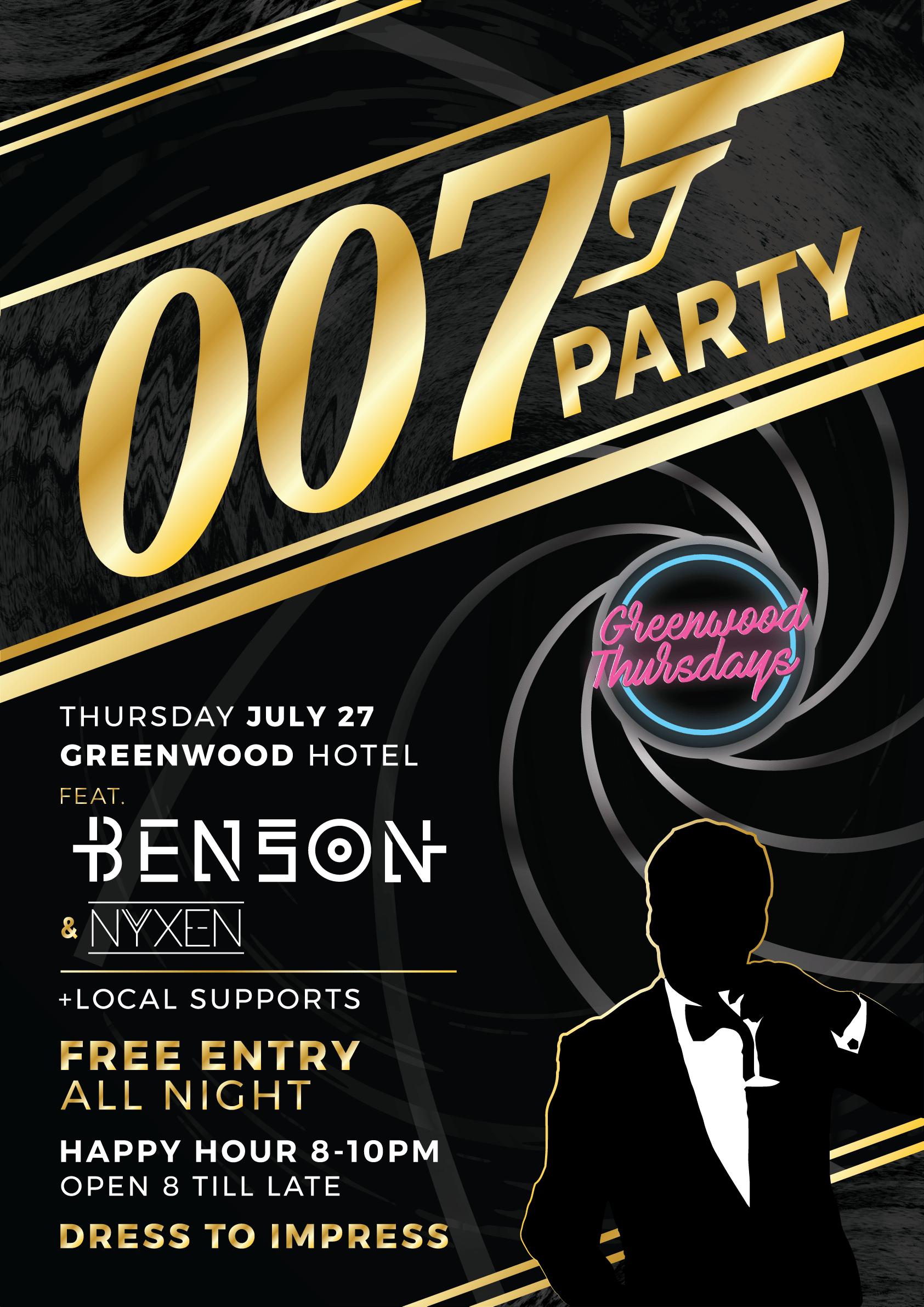 Benson Nyxen DJ Greenwood Thursdays North Sydney