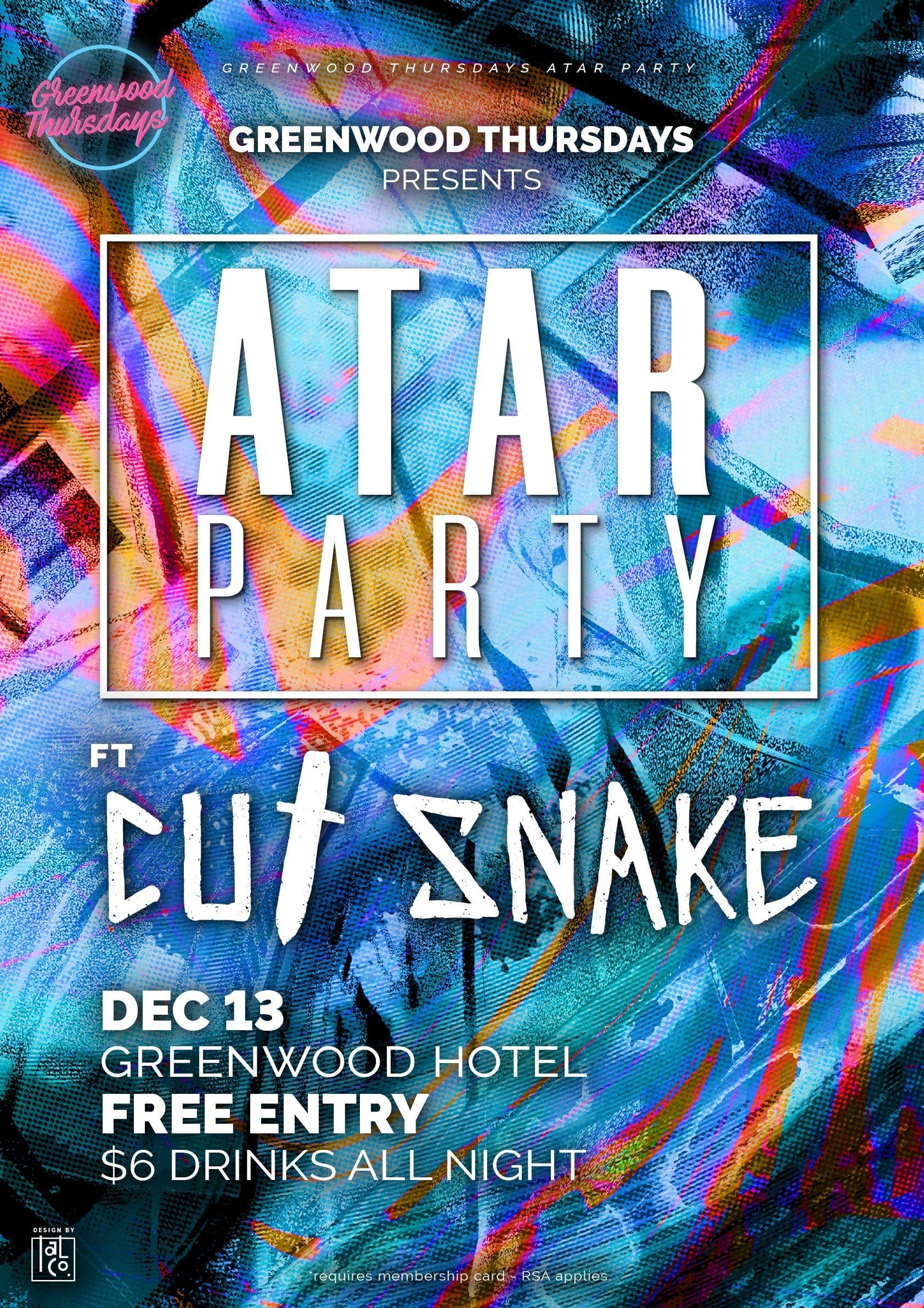 Cut Snake DJ Set Atar Party Greenwood Thursdays North Sydney