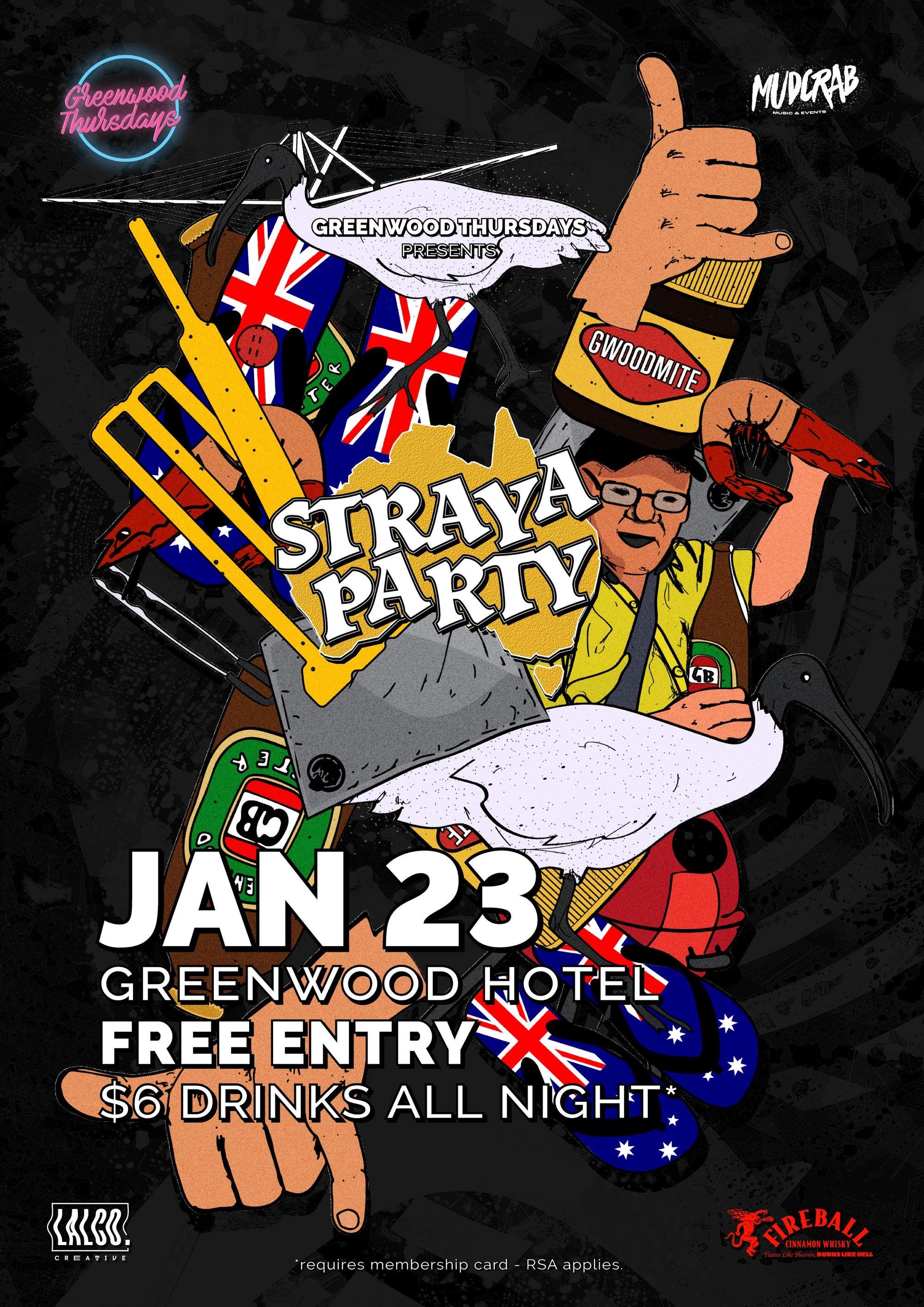 Greenwood Thursdays North Sydney Straya Party