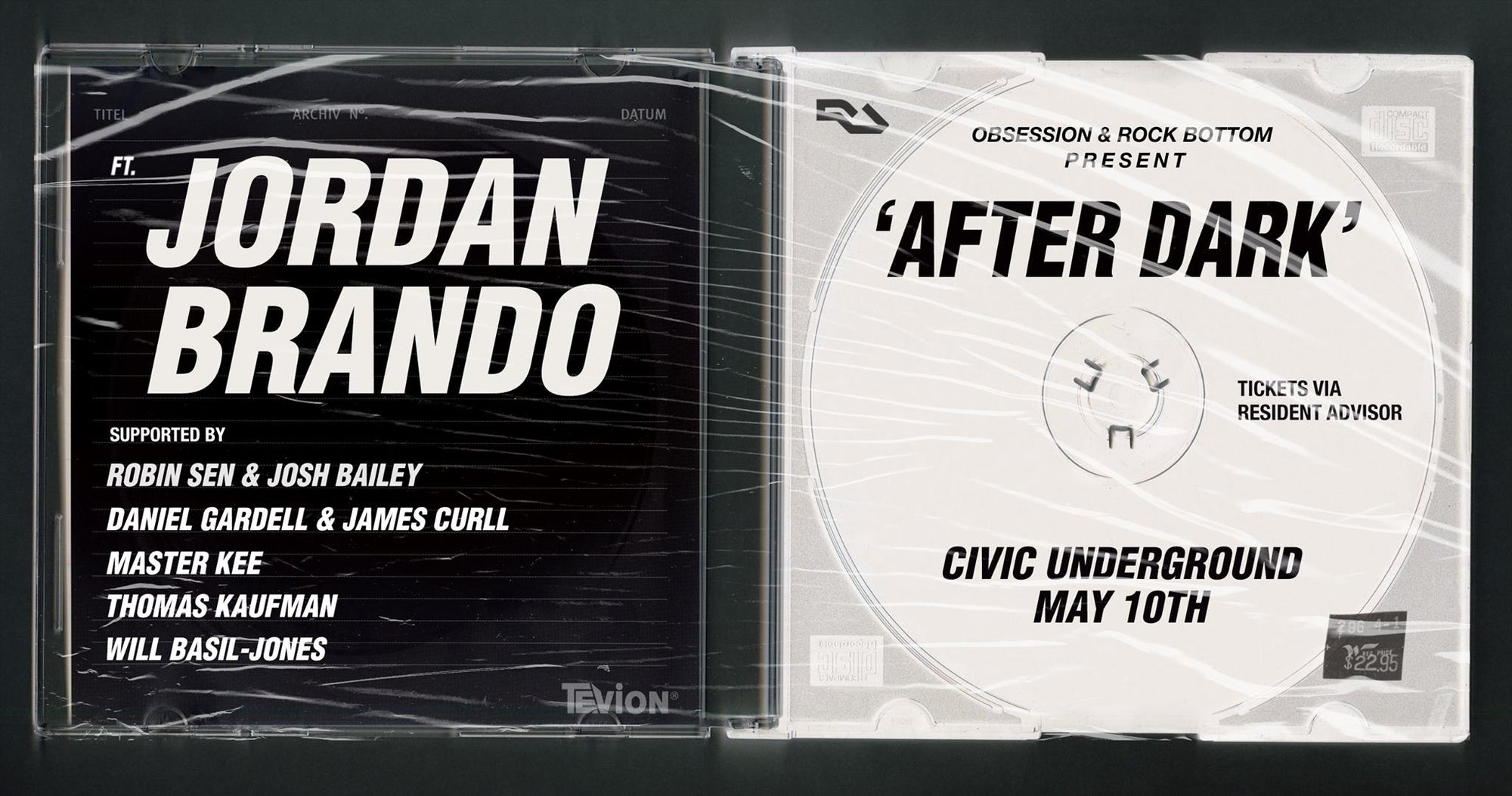 Jordan Brando Obsession Events Civic Underground Rock Bottom Events - Sydney