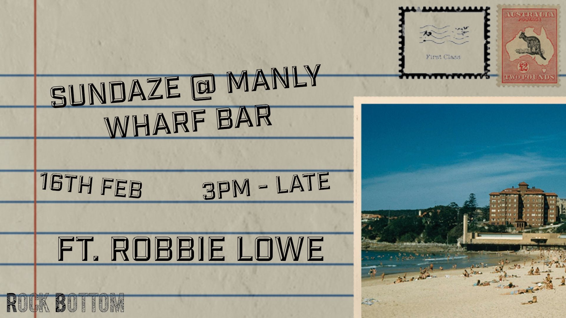 Manly Wharf Bar Rock Bottom Events - Sydney