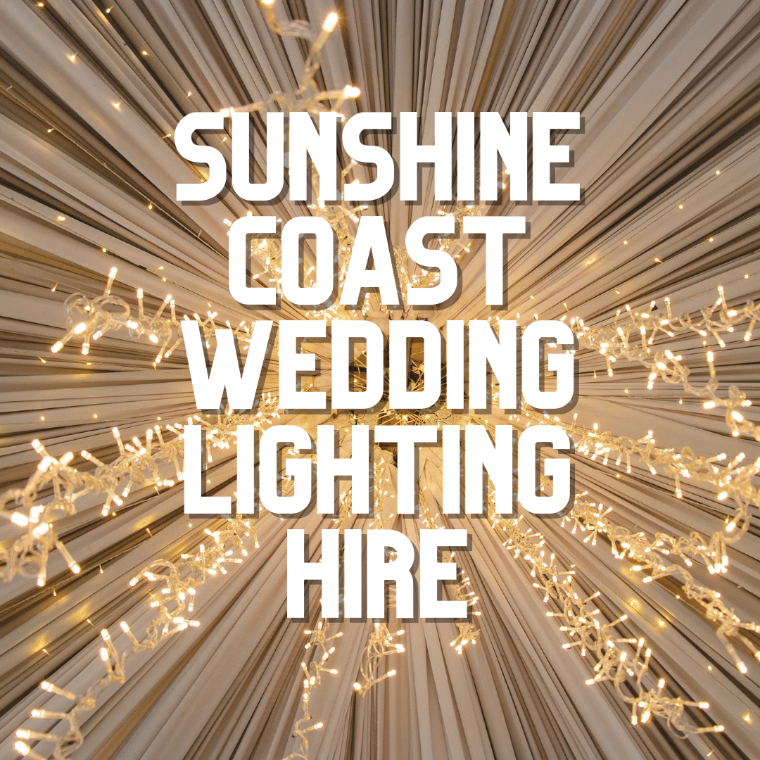 Sunshine Coast Wedding Lighting Hire