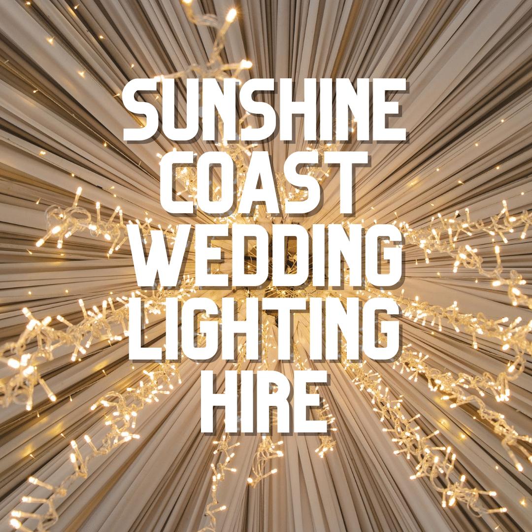 Sunshine Coast Wedding Lighting Hire