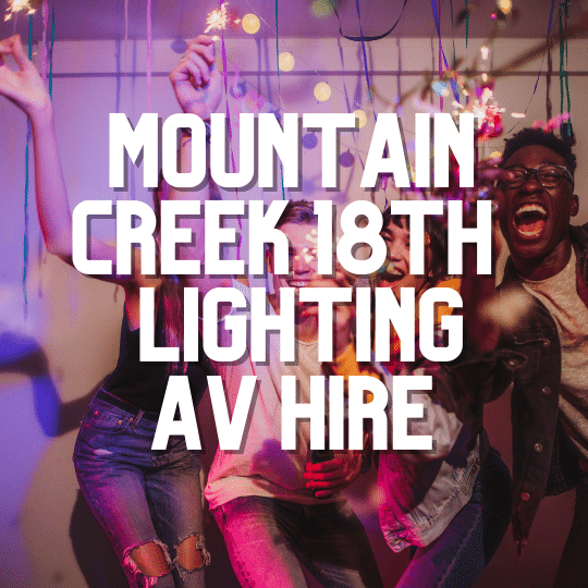Mountain Creek 18th Party Lighting | AV Hire