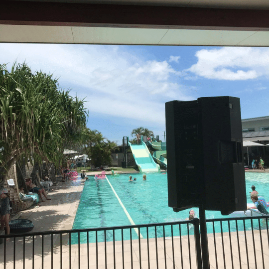 Rivershore Holiday Park Sunshine Coast PA System | AV Hire