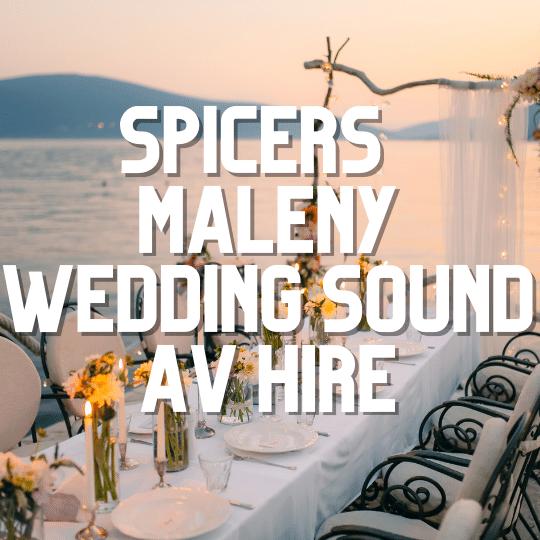 Spicers Retreat Maleny Wedding Sound System | AV Hire