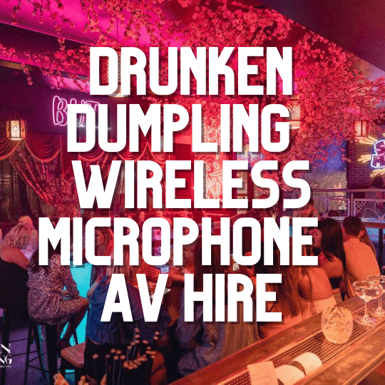 Drunken Dumpling Wedding Reception Wireless Microphone | AV Hire