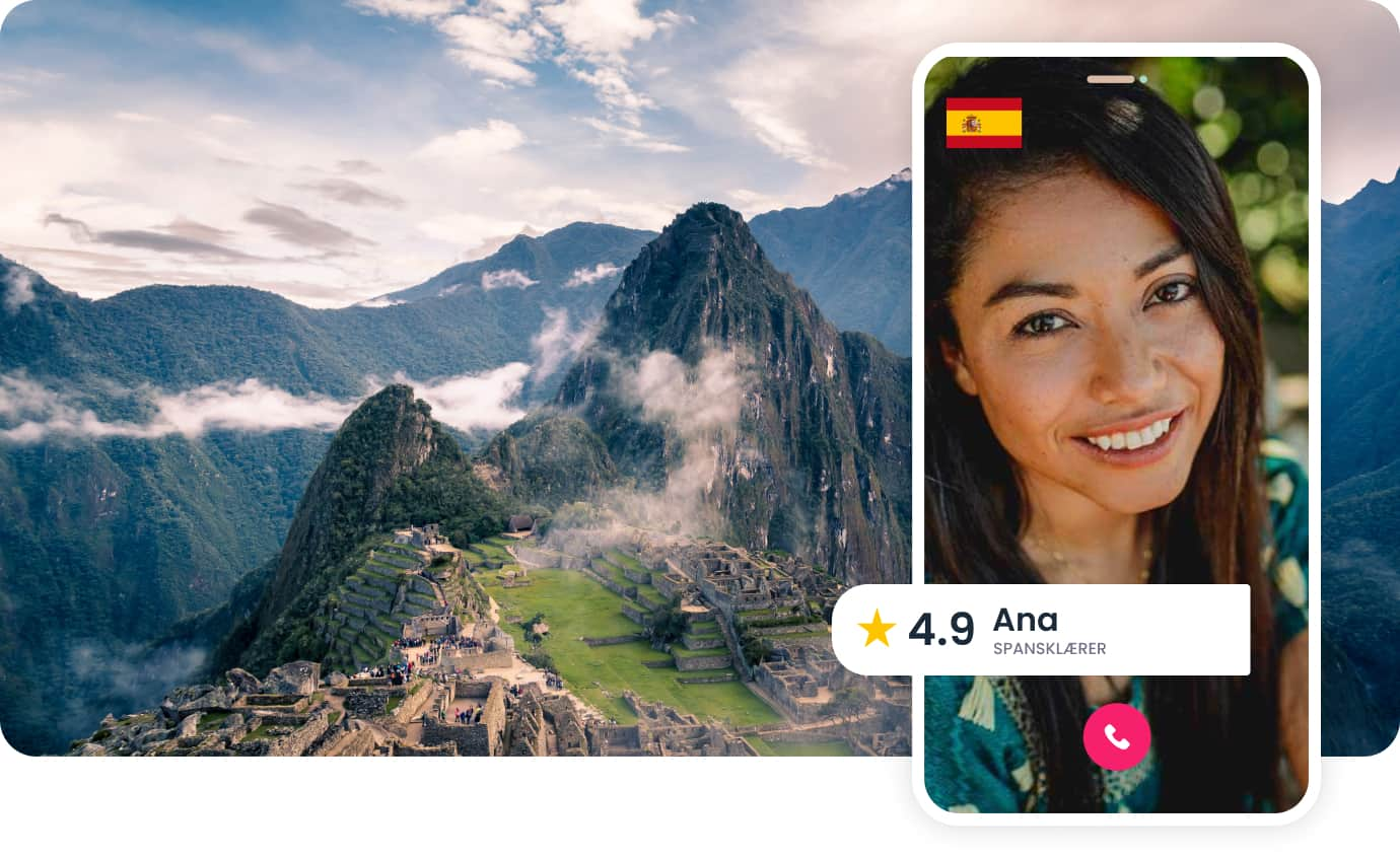 Videosamtale med privat spansklærer Ana